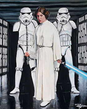 Leia and her Troopers by Tom Carlton