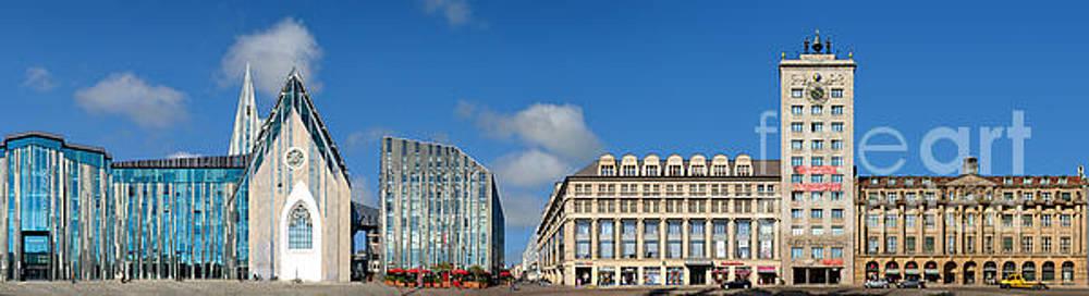 Leipzig Augustusplatz Panorama by Joerg Dietrich