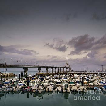 Leisure Port Under 1812 Bridge Cadiz Spain by Pablo Avanzini
