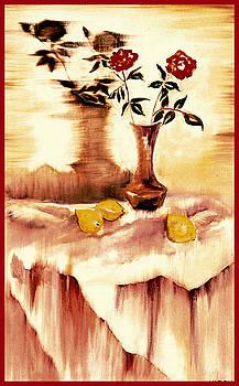 Lemon Roses by Leslie Marcus