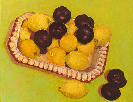 Lemons and plums by Vladimir Kezerashvili