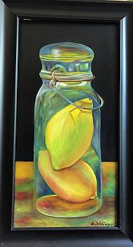 Lemons in Jar.  SOLD by Susan Dehlinger