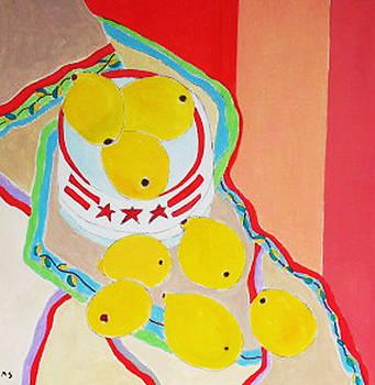 Lemons In Star Bowl by Martin Silverstein