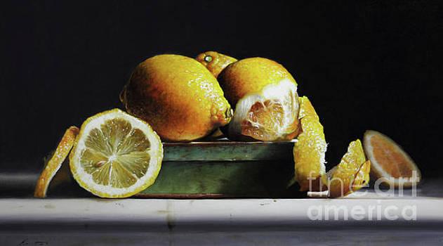 Lemons On A Tin by Larry Preston