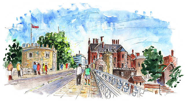 Lendal Bridge In York by Miki De Goodaboom