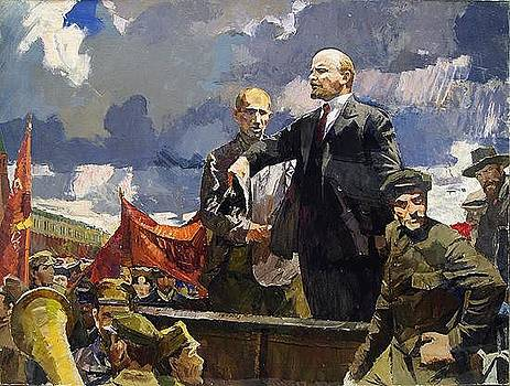 Lenin on the Truck by Nikolay Karacharov