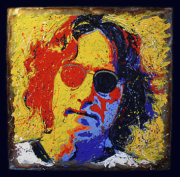 Lennon on Steel 4 by Chris Mackie