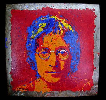 Lennon on Steel by Chris Mackie