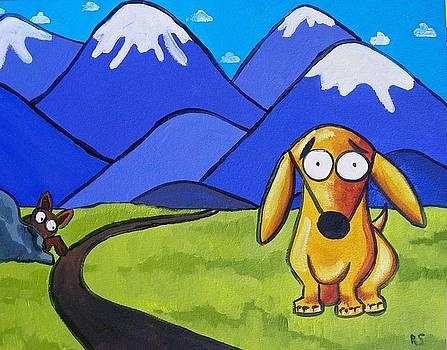Leo goes hiking by Rhondda Saunders