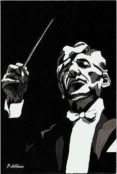 Leonard Bernstein by Peggy De Haan