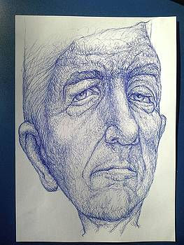 Leonard Cohen by Giora Eshkol