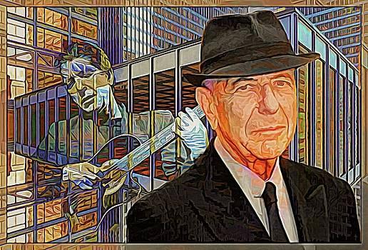 Leonard Cohen - Guitars And Windows - Color Version  by Daniel Arrhakis