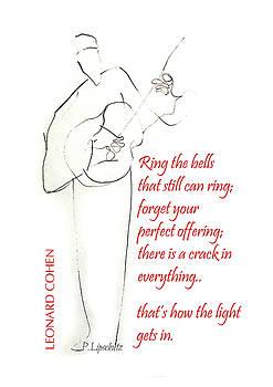Leonard Cohen Light by Peggy Lipschutz