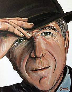 Leonard Cohen by Suzette Castro