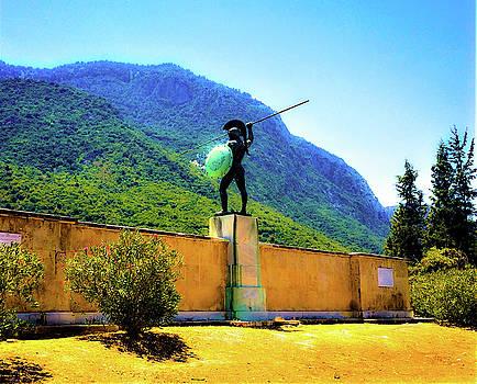 Leonidas still stands Guard by Petros Illustrations