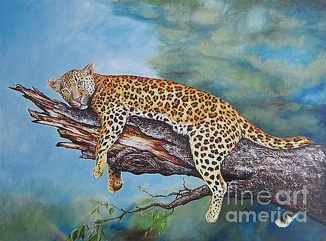 Leopard at Rest by Nicole O'Connor