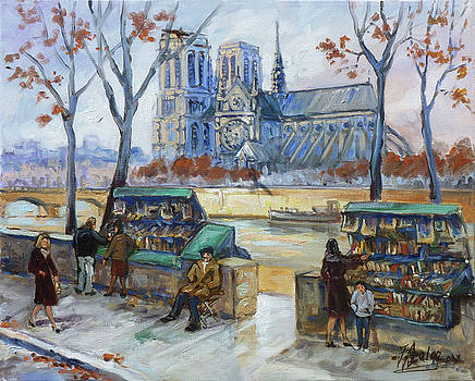 Les Bouquinistes, Seine, Paris by Irek Szelag