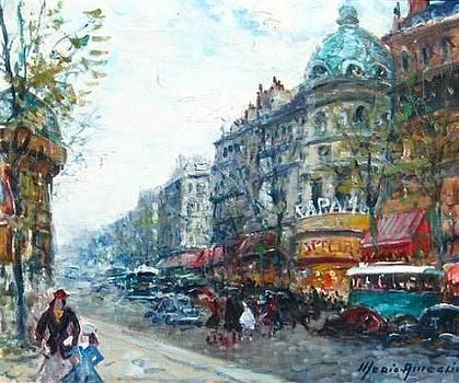 Les Bouvelards Paris by Merio Ameglio