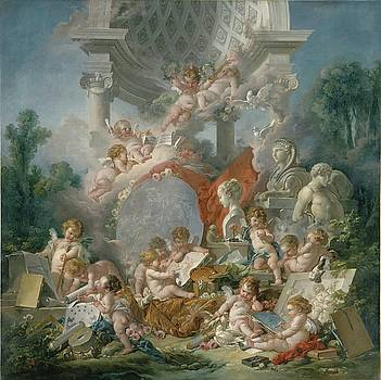 Les Genies des Arts 1761 by Francois Boucher by William Roberts