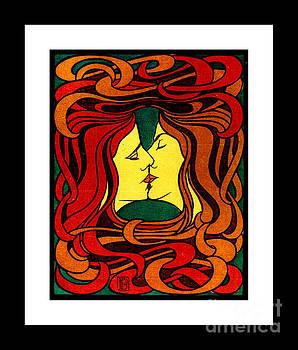 Peter Gumaer Ogden - Lesbian Kiss Der Kuss Art Nouveau II 1898 Peter Behrens