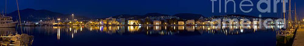 Lesvos Mytilene night Panoramic photo 140 degrees by Vassilis Triantafyllidis