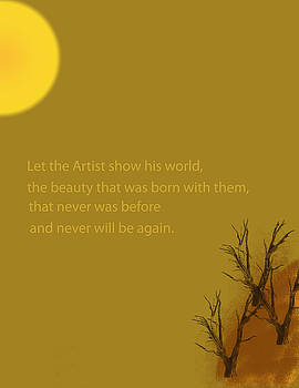 Let the Artist Show His World by Bobbie Barth