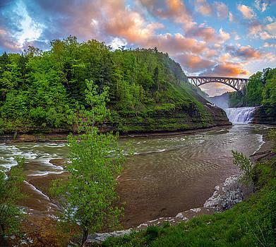 Letchworth Upper Falls by Mark Papke