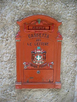 Letterbox in Malcesine Lake Garda Italy by Inga Menn