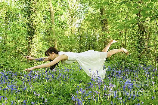 Levitation In The Bluebells by Amanda Elwell