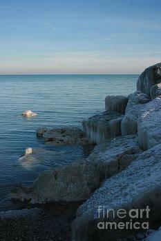 Lexington Harbor in Ice by Kathy DesJardins