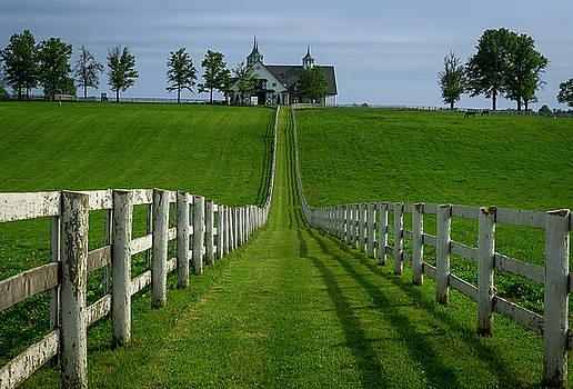 Lexington Horse Farm in a Kentucky spring. by Matt Shiffler
