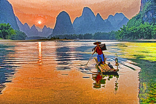 Dennis Cox ChinaStock - Li River Sunset