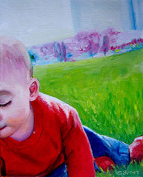 Liam Playing in the Grass by Chelsie Brady