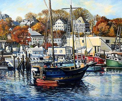 Lianas Ransom in Gloucester Harbor by Eileen Patten Oliver