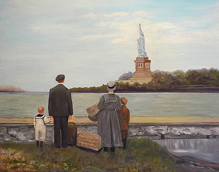 Liberty view from Ellis Island by Sandra Nardone