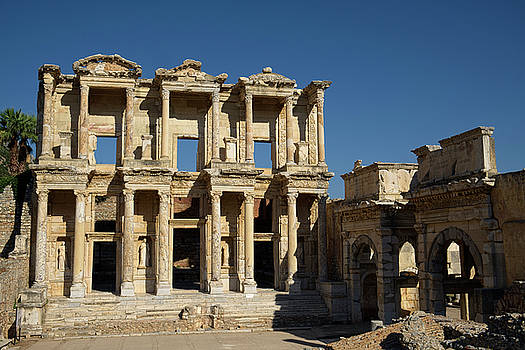 Library of Celsus at Ephesus by Lucinda Walter