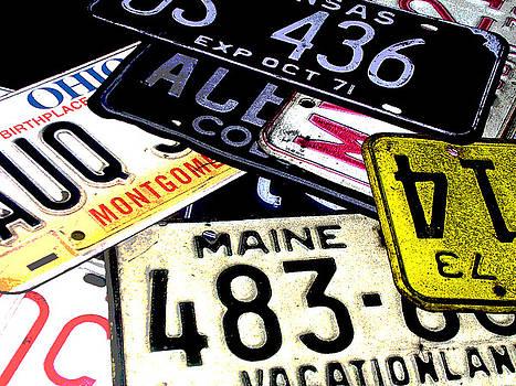 License Plates by Audrey Venute