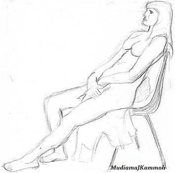 Life Drawing - 001 by Mudiama Kammoh