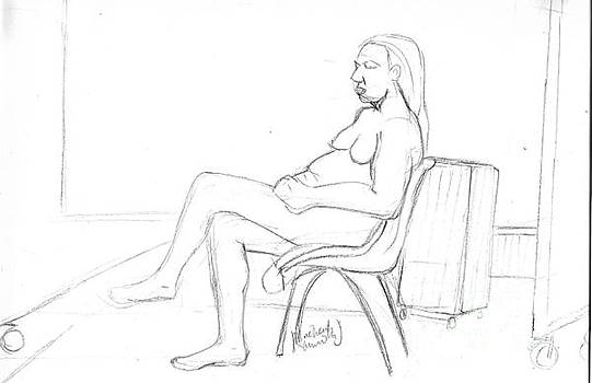 Life Drawing - 003 by Mudiama Kammoh
