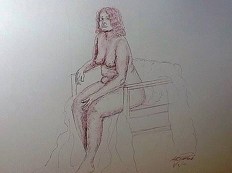 Life Drawing nude lady by Robert Monk
