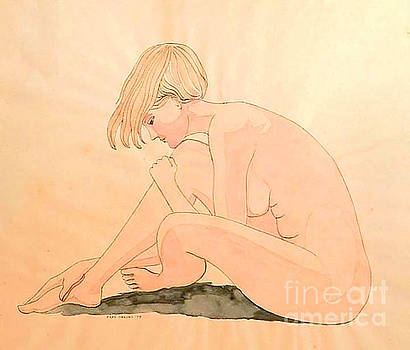 Life Drawing Watercolor by Fred Jinkins