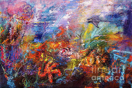 Ginette Callaway - Life In The Coral Reef Oil Painting by Ginette