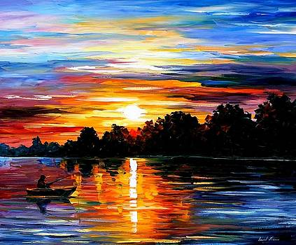 Life Memories - PALETTE KNIFE Oil Painting On Canvas By Leonid Afremov by Leonid Afremov