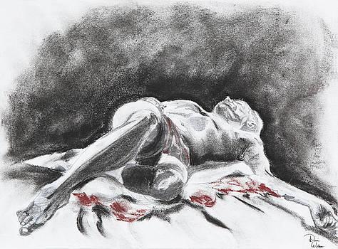 Life Model on blanket by Denise Jo Williams