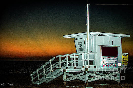 Julian Starks - Lifeguard Station at Santa Monica Beach