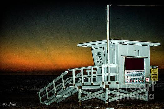 Julian Starks - Lifeguard Station at Sunset