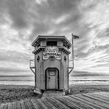 Cliff Wassmann - Lifeguard station in black and while