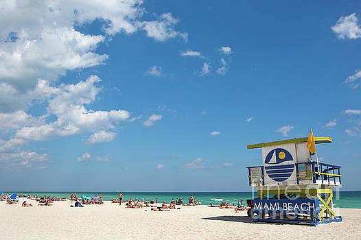 Lifeguard Station Miami Beach Florida by Steven Frame