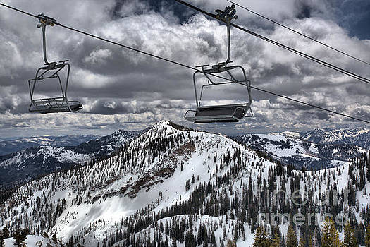 Adam Jewell - Lift Chairs Above The Wasatch Peaks