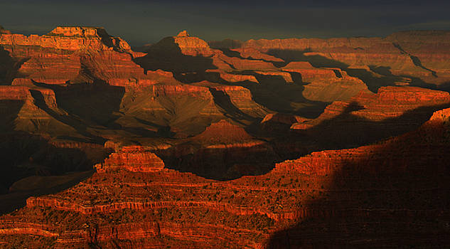 Light and Shadows at Sunset by Stephen  Vecchiotti